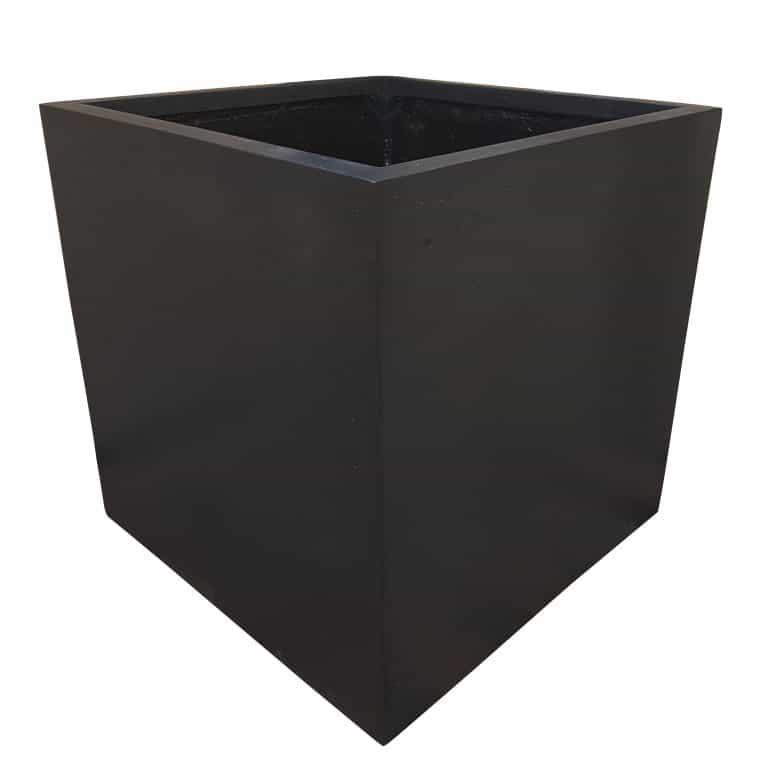 Black Cube   Polystone Planter