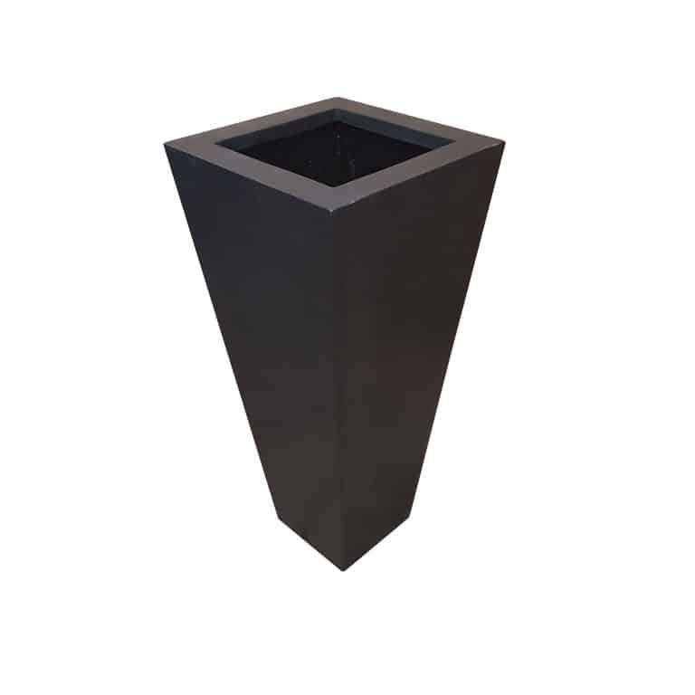 Black Flared Square | Polystone Planter