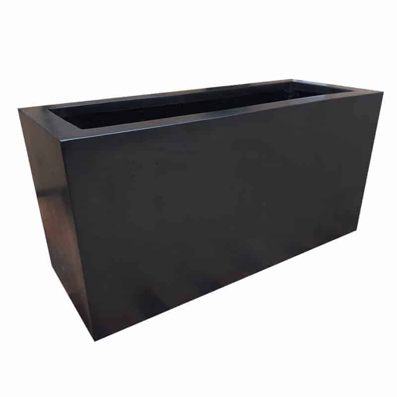 Black Trough Polystone Planter Alt