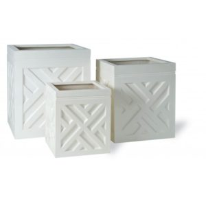 Chippendale Cube Fibreglass Planter