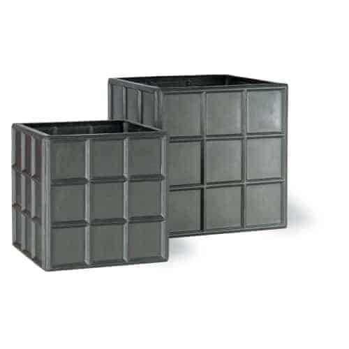 Downing Street Cube Fibreglass Planter Alt 3