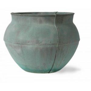 Fibreglass Beaten Copper Bell Jar Planter Alt 5
