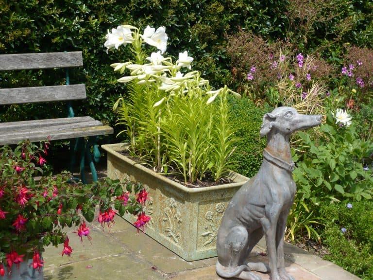 Fibreglass Bronze Botanical Trough Planter Alt