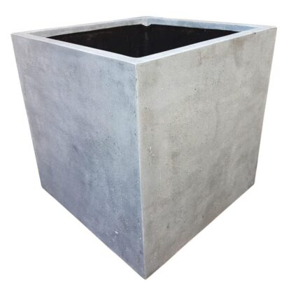 Grey Cube | Polystone Planter