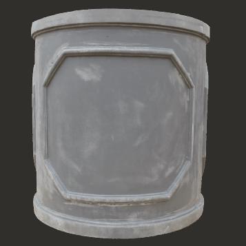 Grey Faux Lead Fibrestone Chelsea Round Column Planter