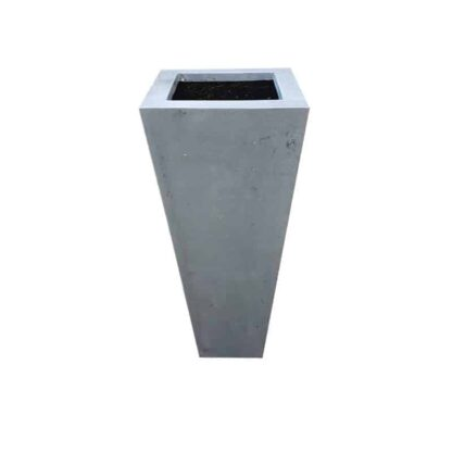 Grey Flared Square Polystone Planter Alt