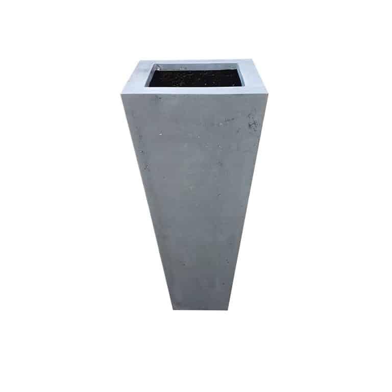 Grey Flared Square Polystone Planter Alt