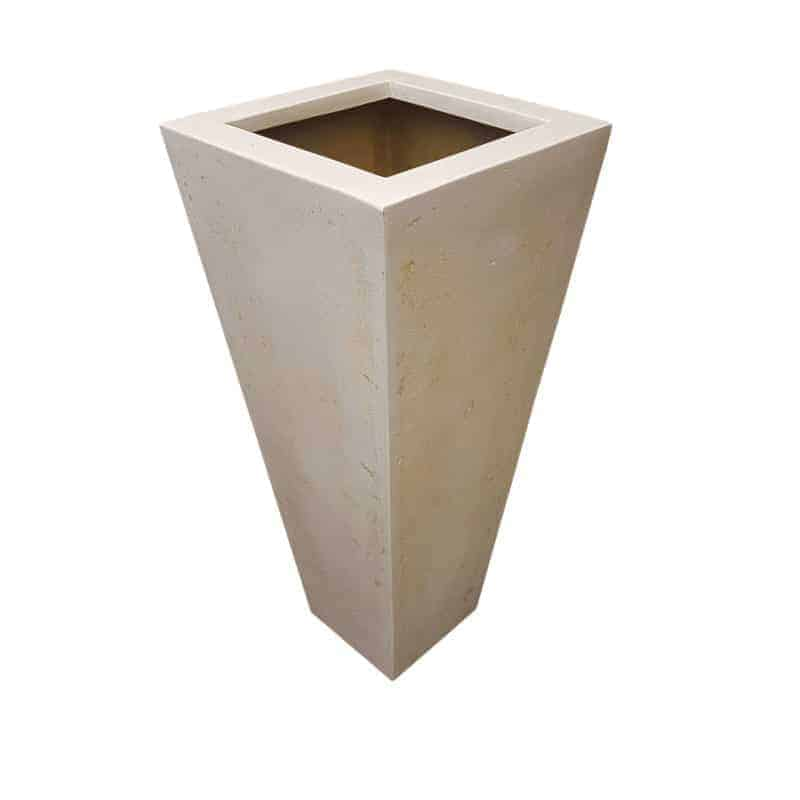 OffWhite Flared Square | Polystone Planter