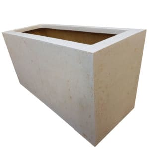 Off-White Trough Polystone Planter