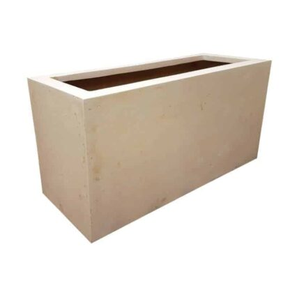 Off-White Trough Polystone Planter Alt