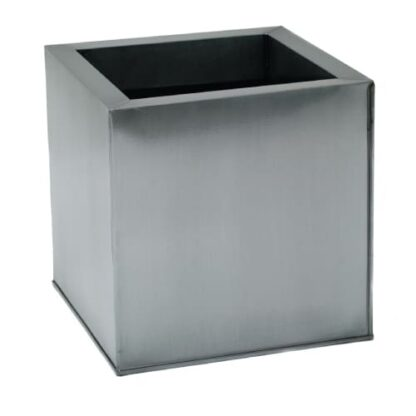 Silver Powder Coat Galvanized Cube | Zinc Planter