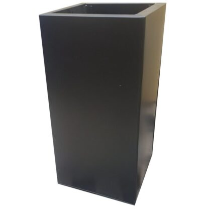 Black Powder Coat Galvanised Square Tower | Zinc Planter