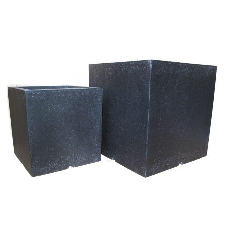 Black Cube | Terrazzo Planter