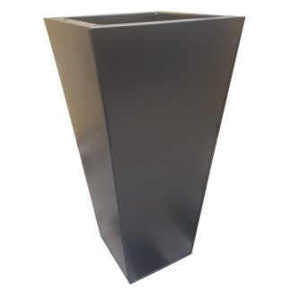 Black Powder Coat Galvanised Flared Square | Zinc Planter