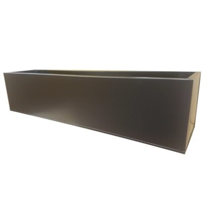 Black Powder Coat Galvanised Window Box | Zinc Planter