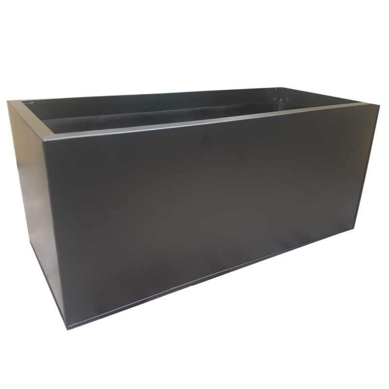 Black Powder Coat Galvanized Trough | Zinc Planter