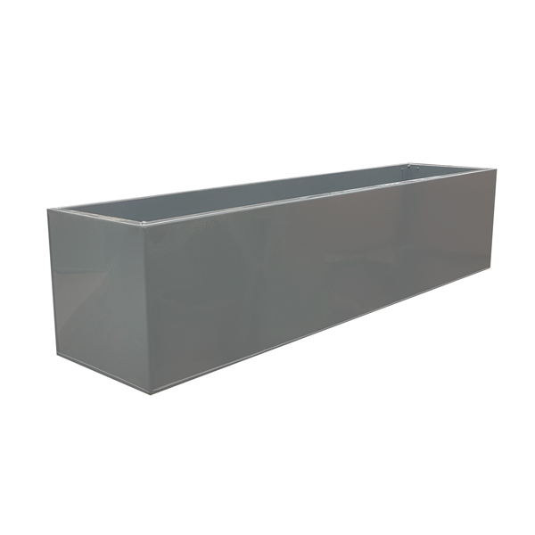 Grey Powder Coat Galvanised Metal Window Box | Zinc Planter