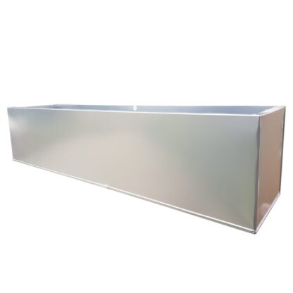 Silver Powder Coat Galvanised Window Box | Zinc Planter