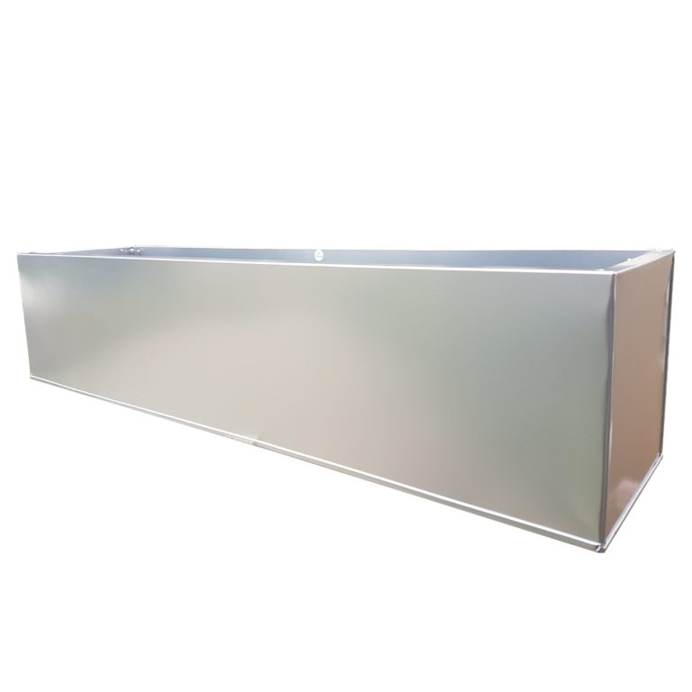 Silver Powder Coat Galvanised Window Box | Zinc Planter