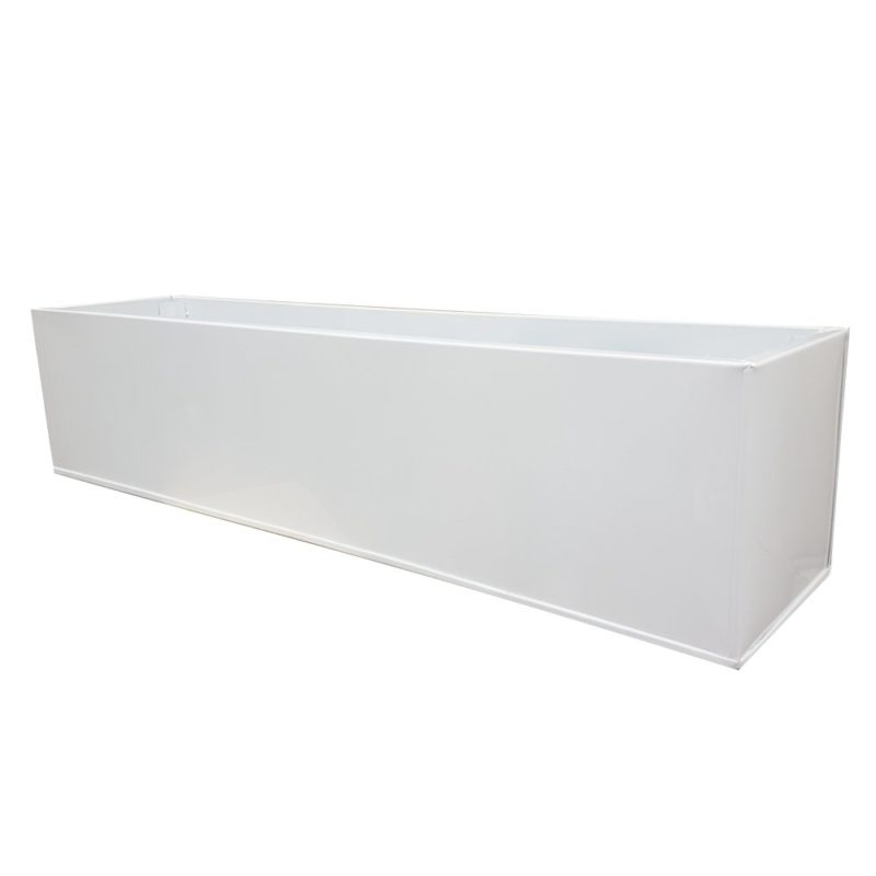 White Powder Coat Galvanised Window Box | Zinc Planter