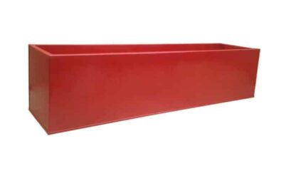 Red Powder Coat Galvanised Window Box | Zinc Planter