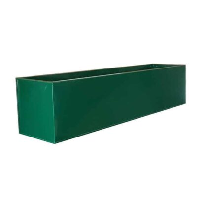 Green Powder Coat Galvanised Window Box | Zinc Planter