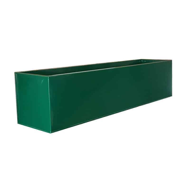 Green Powder Coat Galvanised Window Box | Zinc Planter on zinc trough planter, zinc planter trays, zinc finish,