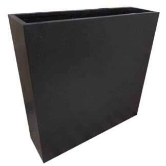 Black Barrier   Polystone Planter