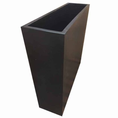 Black Barrier Polystone Planter Alt