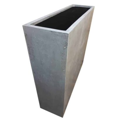 Grey Barrier Polystone Planter Alt
