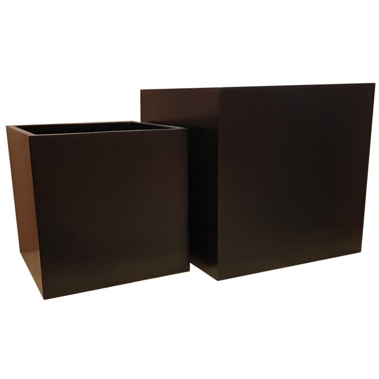 Matte Black Cube | Fibreglass Planter