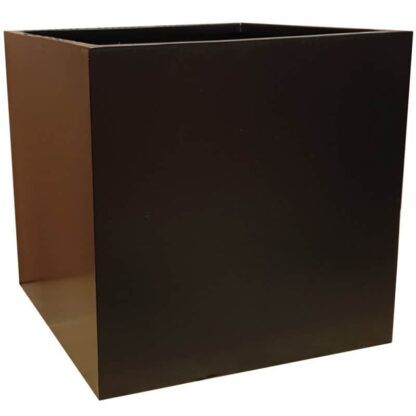 Matte Black Square Fibreglass Planter Alt
