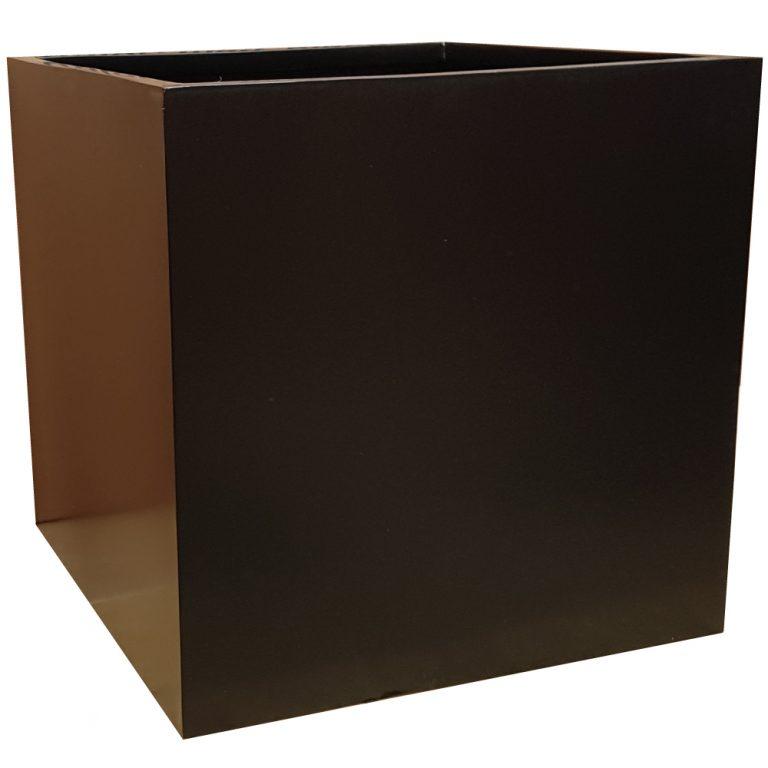 Matte Black Square Fibreglass Planter Alt