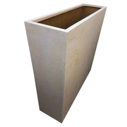 Off-White Barrier Polystone Planter Alt
