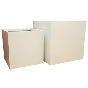 Matte White Square Fibreglass Planter