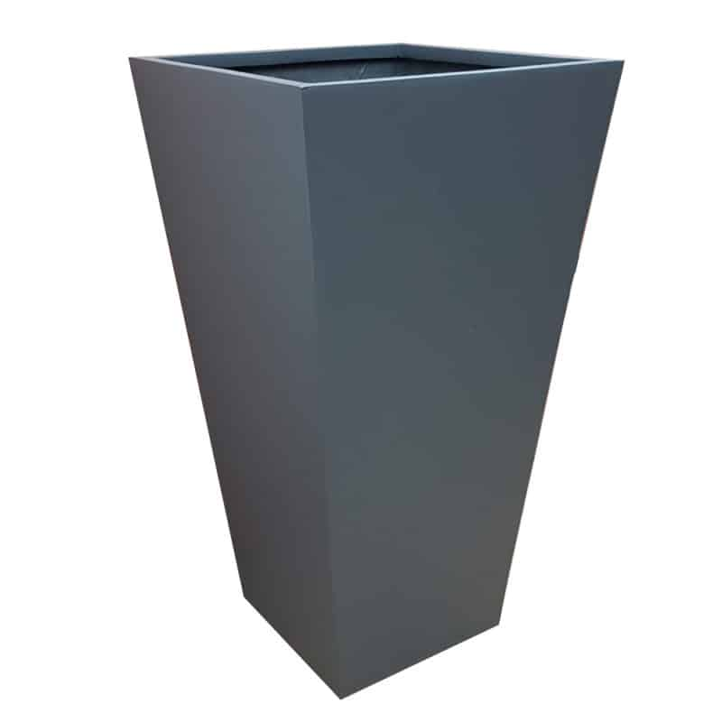Matte Grey Flared Tower Fibreglass Planter Alt