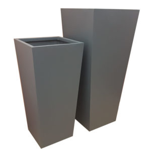 Matte Grey Flared Square | Fibreglass Planter