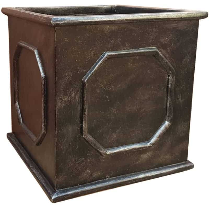 Faux Lead Square Fibreglass Planter Alt