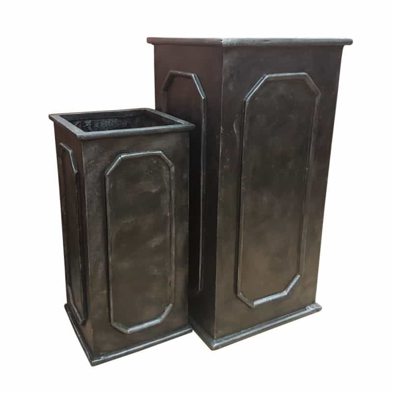Faux lead tower fibreglass planter for Lead planters for sale