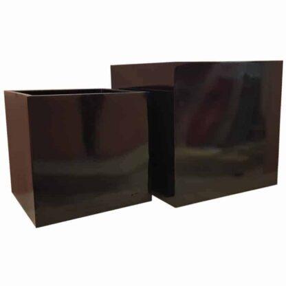 Glossy Black Cube | Fibreglass Planter