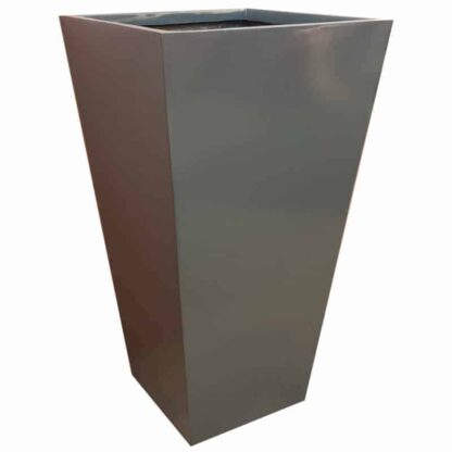 Gloss Grey Flared Tower Fibreglass Planter Alt