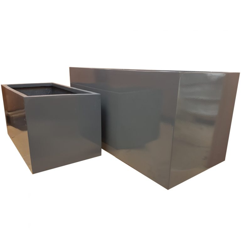 Glossy Grey Trough | Fibreglass Planter