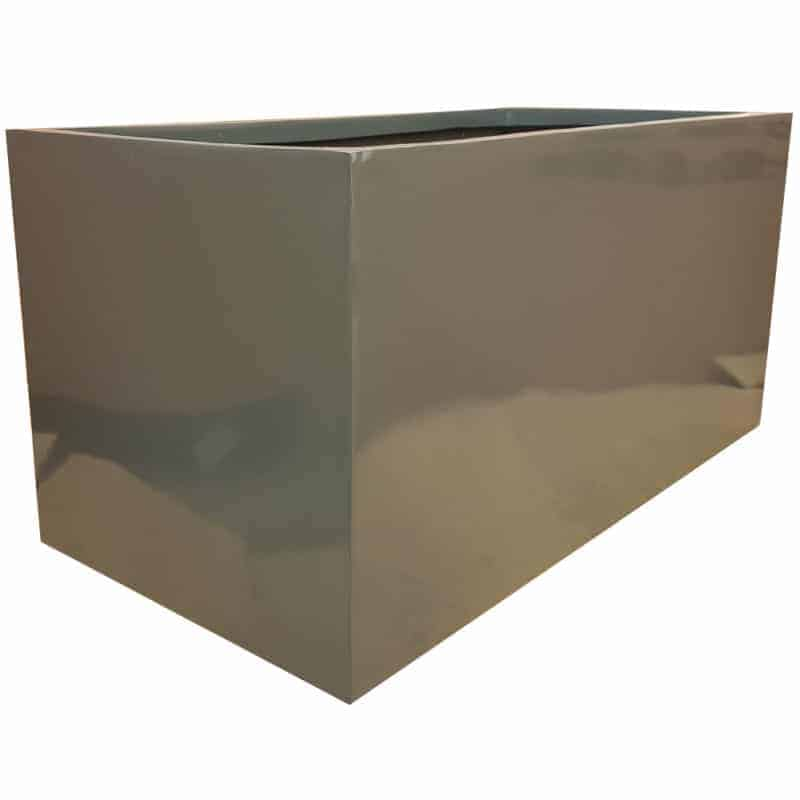 Gloss Grey Trough Fibreglass Planter Alt