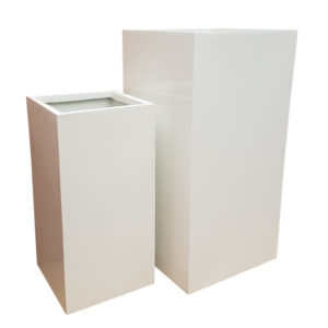 Gloss White Tower Fibreglass Planter