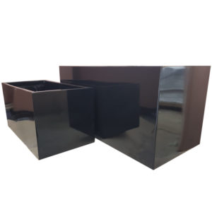 Glossy Black Trough | Fibreglass Planter