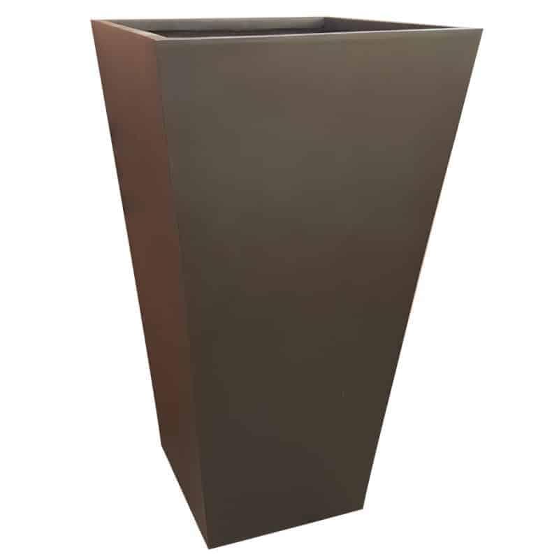 Matte Black Flared Tower Fibreglass Planter Alt