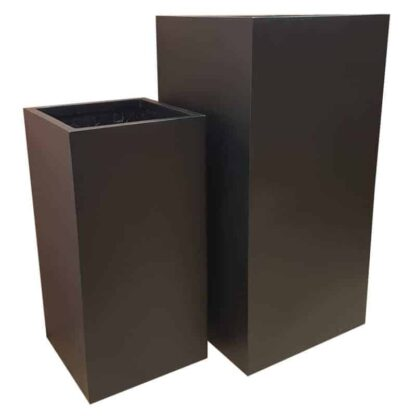 Matte Black Tower | Fibreglass Planter