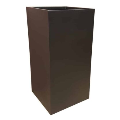 Matte Black Tower Fibreglass Planter Alt