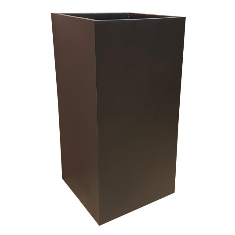 Matte Black Tower Fibreglass Planter Alt