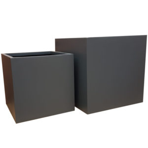 Matte Grey Cube | Fibreglass Planter